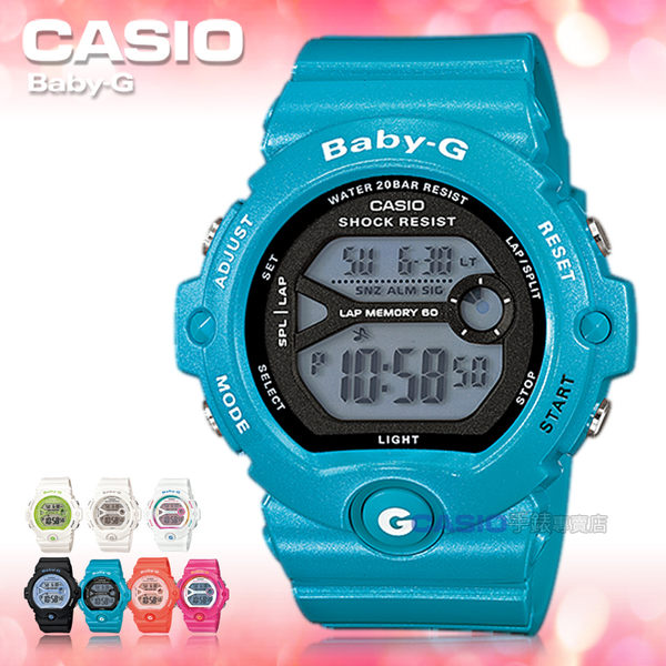CASIO卡西歐 手錶專賣店  Baby-G BG-6903-2D 女錶 電子錶 繽紛嫩彩 運動 礦物玻璃 防水200米 膠質錶帶