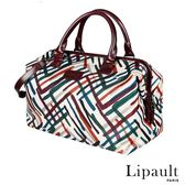 法國時尚Lipault 時尚造型保齡球包M(秋彩紋)