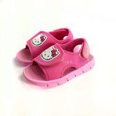 HELLO KITTY  布面 休閒涼鞋《7+1童鞋》C198粉色