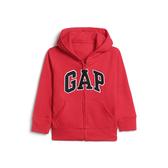 Gap男幼徽標LOGO毛圈布內裡連帽衫567921-正紅色