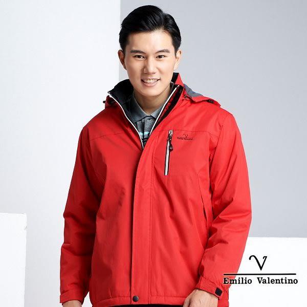 【Emilio Valentino】戶外休閒機能保暖防風防潑水外套 - 紅