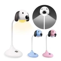 療癒系趴趴狗 USB充電式 觸控可調光檯燈(2種色溫可切換) (USB-78) 小夜燈 造型燈 照明燈【迪特軍】
