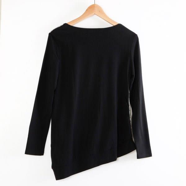 【MASTINA】混色假兩件上衣-黑  秋裝限定嚴選