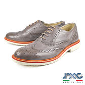 【IMAC】義大利小牛皮雕花綁帶紳士皮鞋  灰色(70240-GRY)