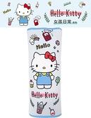 車之嚴選 cars_go 汽車用品【PKTD010B-02】Hello Kitty 女孩日常系列 安全帶保護套舒眠枕 1入
