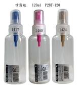 日本噴霧空瓶B+D噴霧瓶P28T-120--可分裝酒精或消毒水/容量120ml 隨機出貨不挑色-材質塑膠1號PET
