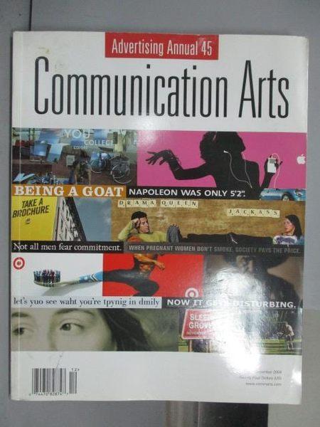 【書寶二手書T7/設計_QHL】Communication Art_2004/12