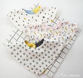 韓版純棉口水巾嬰兒三角巾男女寶寶圍嘴0圍兜1新生兒圍兜2歲     蜜拉貝兒