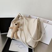 包包小眾設計新款潮大容量單肩包網紅時尚斜背包女士水桶大包 雙十二全館免運