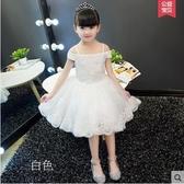 熊孩子❤兒童公主裙花童禮服夏季(白色)