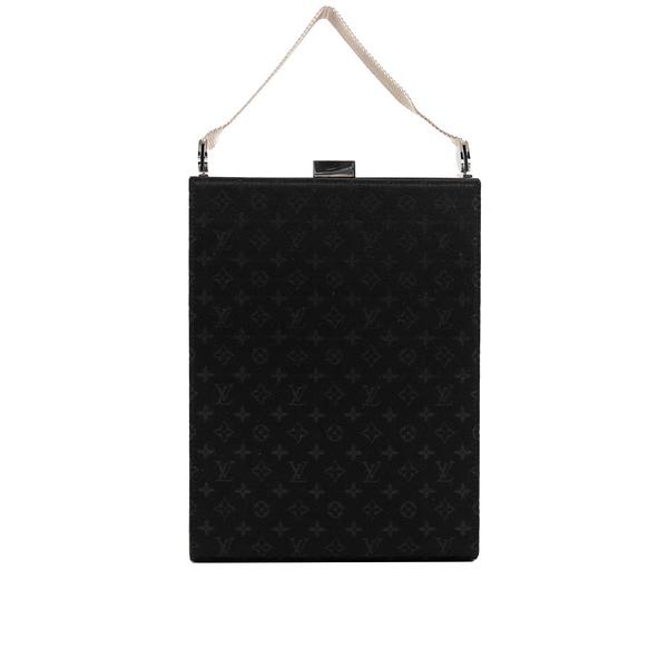 【LV】黑色緞面logo長型晚宴包 LV12000337