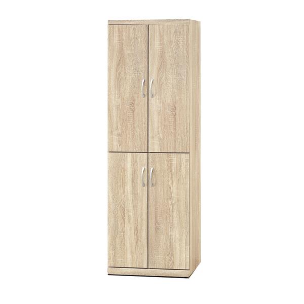 【采桔家居】安斯 時尚2尺木紋四門高鞋櫃/玄關櫃(四色可選)