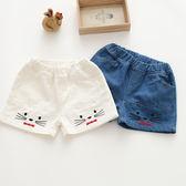 貓咪刺繡牛仔短褲 橘魔法 Baby magic 現貨 兒童 童裝 中童 女童