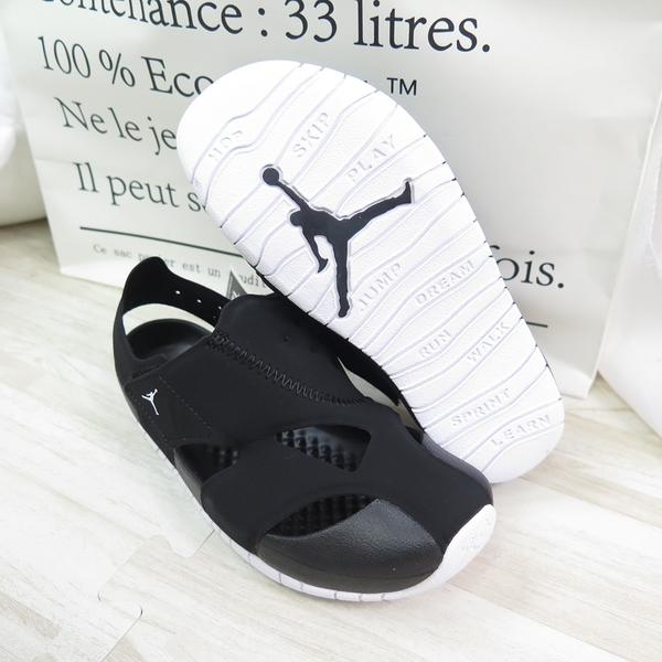NIKE JORDAN FLARE (PS) 中童鞋 拖涼鞋 魔鬼氈 CI7849001 黑【iSport愛運動】