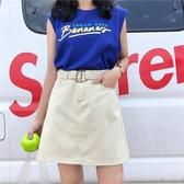 及膝裙 2020新款女裝韓版學生百搭高腰半身裙顯瘦牛仔裙A字裙短裙子 俏girl