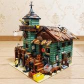 漁夫小屋模型DIY積木益智非成品兒童玩具6-13歲 歐韓時代