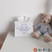 簡約面紙套笑臉小熊 少女心卡通可愛桌面面紙盒車載【淘夢屋】