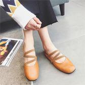 韓版豆豆鞋平底單鞋牛筋底芭蕾舞鞋時尚百搭女鞋鬆緊帶奶奶鞋    琉璃美衣
