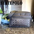 STATE POLO 經典格紋簡約側背包...