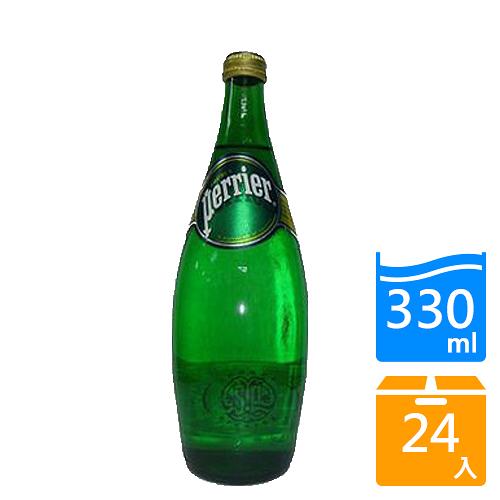 法國沛綠雅Perrier氣泡礦泉水330mlx24入/箱【愛買】