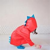 男女兒童雨衣卡通造型立體小恐龍雨衣環保透氣幼兒園防水雨衣 居享優品