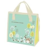 〔小禮堂〕宮崎駿Totoro龍貓 方形不織布保冷手提袋《綠.樹林》便當袋.野餐袋.購物袋 4973307-47070
