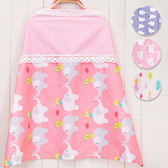 蕾絲拼接棉感哺乳巾 印花哺乳巾 含頸撐