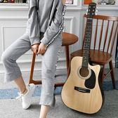 吉他木吉他民謠吉他38寸民謠吉他木吉他新手入門初學吉他學生練習吉他送全套-年終狂歡