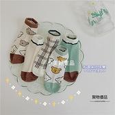 5雙薄款兒童低幫純棉襪子男童女童網眼透氣韓版卡通短襪【聚物優品】