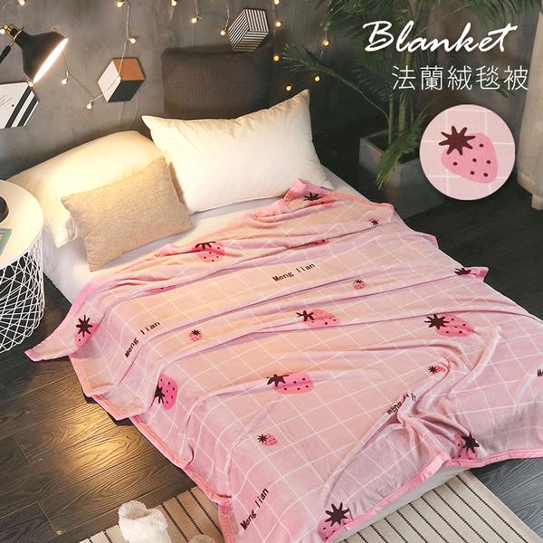 BELLE VIE 專櫃厚邊加長版 保暖法蘭絨毯 (150x210cm) 小紅莓