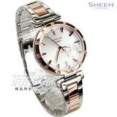 SHEEN SHE-4051SPG-7A 施華洛世奇水晶 簡約優雅女錶 防水手錶 玫瑰金 SHE-4051SPG-7AUDF CASIO卡西歐