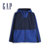 Gap 男裝 活力撞沙拉鍊連帽外套 548723-海軍藍