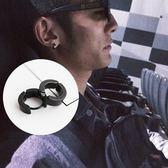[全館5折] 歐美 韓國 金銀黑 環形 耳骨夾 耳扣 鈦鋼 耳夾 耳釘 男女款 通用 無耳洞 假耳環