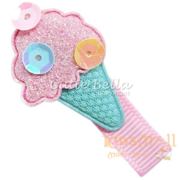 Cutie Bella冰淇淋甜筒全包布手工髮夾-Ice Cream-Mint