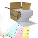 【奇奇文具】電腦報表紙 (80行) 9.5 X 11 X 4P 雙切、全頁、白藍紅黃