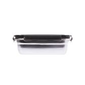 304不銹鋼密封保鮮盒850ml-黑
