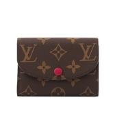 【LV】Monogram ROSALIE零錢包(紫紅色) M41939
