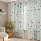 窗簾 簡易窗簾免打孔安裝魔術貼臥室遮光布新款落地北歐簡約少女 「雙10特惠」