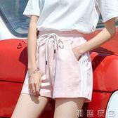 ins潮休閒運動短褲女寬鬆學生韓版原宿bf夏季跑步外穿百搭熱褲薄  潮流衣舍