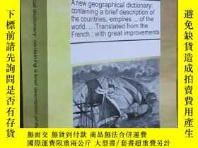 二手書博民逛書店A罕見new geographical dictionary:containing a brief descrip