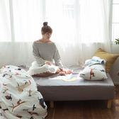 馬與狐狸的對話 QPM4加大鋪棉床包(6X6.2)與6X7兩用被4件組 四季磨毛布 台灣製 棉床本舖