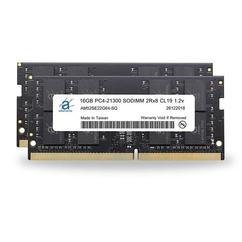 Adamanta 32GB(2x16GB)記憶體升級 2019 Apple iMac 27吋 Retina 5K顯示屏