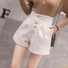 靴褲 毛呢短褲女2020新款秋冬季寬鬆高腰網紅外穿顯瘦百搭a字闊腿靴褲 零度3C
