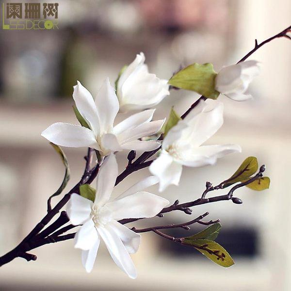 [超豐國際]-精品短枝玉蘭歐式簡約客廳百搭裝飾成品花藝