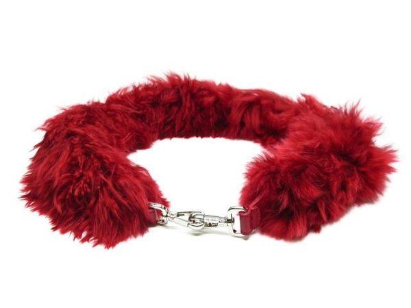 FENDI 紅色羊毛肩背帶 Strap You 8AV077A0F5F0EI6 【BRAND OFF】