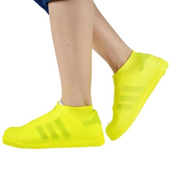 快速出貨 硅膠防水雨鞋套防滑加厚耐磨成人男女下雨便攜水鞋套兒童