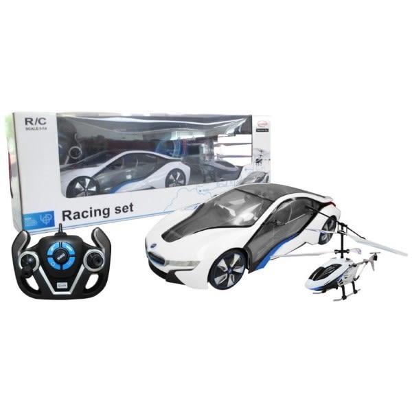 1/14 BMW i8 +直升機遙控套組 49600-14 TOYeGO 玩具e哥