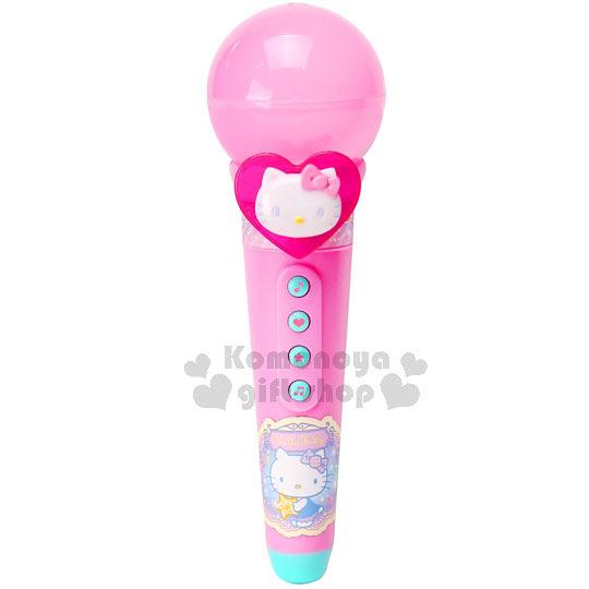 〔小禮堂嬰幼館〕Hello Kitty 音樂麥克風玩具《粉.大臉.愛心.泡殼紙卡》適合3歲以上孩童 4902923-14122