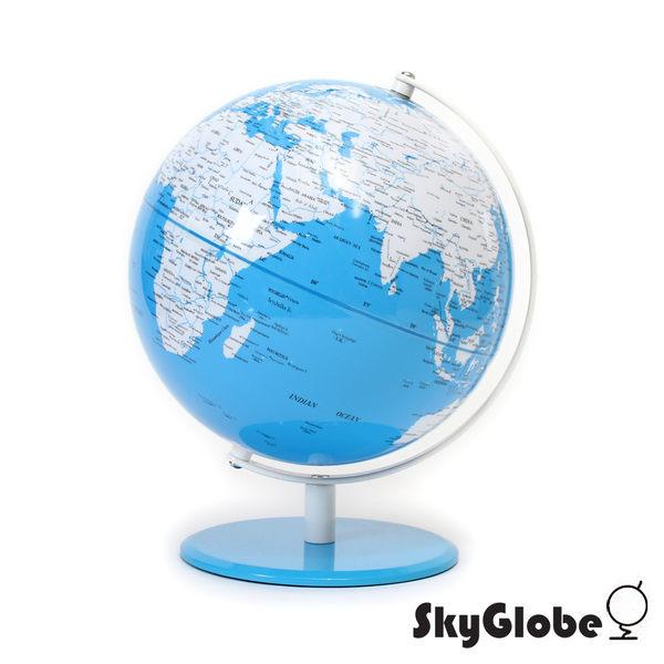 【SkyGlobe】10吋簡約雙色地球儀(英文版)-藍色