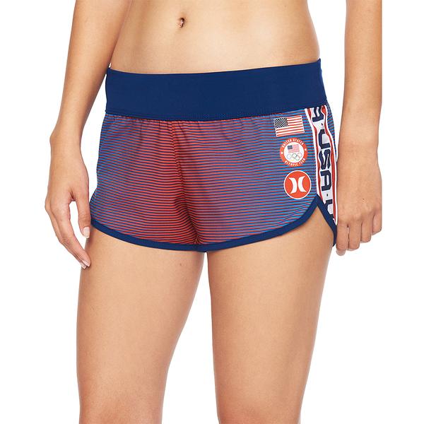 HURLEY|女 USA PHANTOM BEACHRIDER BLACK 海灘褲-(藍)